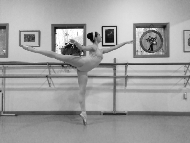 Meg Arabesque B&W